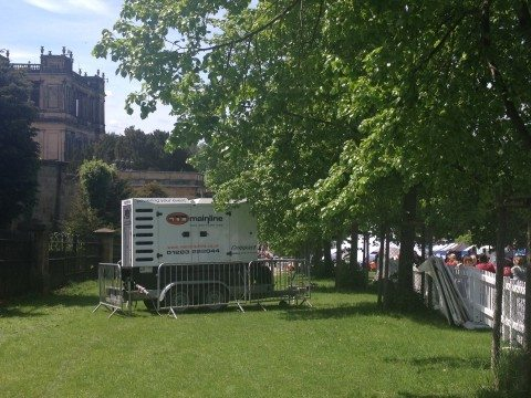Power equipment supplied to Chatsworth House Food & Drink Fair